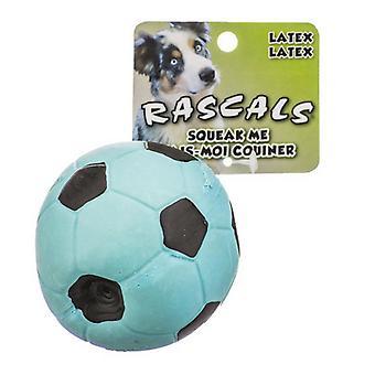 """Rascals Latex Soccer Ball for Dogs - Blue - 3"""" Diameter"""