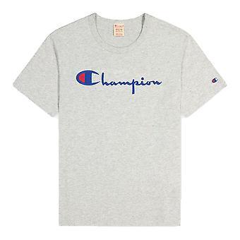 Champion Reverse Weave Script Logo 216547EM004LOXGM universel toute l'année homme t-shirt