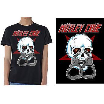 Motley Crue - Skalle manschetter 2 mäns lilla T-shirt - Svart
