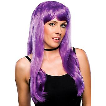 Glamour Violet Purple Witch Long Costume Women Wig
