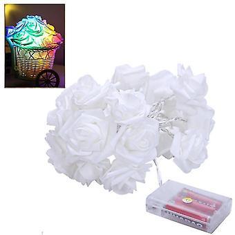 1.5M Rose Flower String Lights Valentijnsdag Bruiloft Kerst Decor (Multicolor)