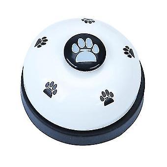 Lemmikkieläinten koulutuskello, koirankello, koiran koulutuslaite (valkoinen)