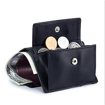 Rfid protezione mini portafoglio in pelle da uomo, portafoglio porta carte 6, multicolore