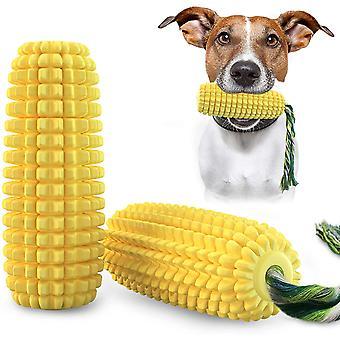 Szczoteczka do zębów dla psów, kształt kukurydzy, trwała gumowa szczoteczka do zębów do czyszczenia zębów szczeniąt, zabawka do żucia