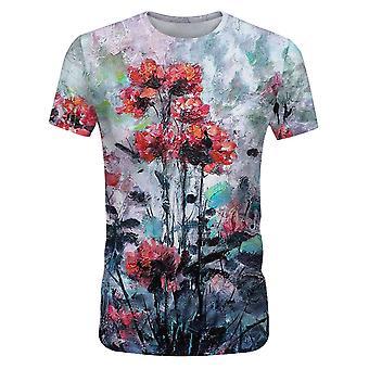 T-shirt imprimé floral Yunyun Pour Homme À manches courtes Tendance