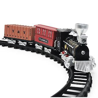 Детская электрическая дорожка Игрушка Свет Звуковой эффект Электрический ретро Симуляция Модель поезда