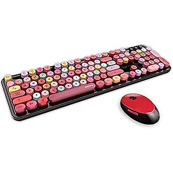 Bezdrátová klávesnice Bluetooth se 104 klávesami, design bez přetažení 2,4 g/s, kompatibilní s počítačem, počítačem, notebookem, vhodný pro většinu systémů