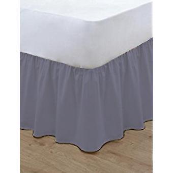Bastidor Base de poli algodón volantes simple cama sábanas sábanas todos los tamaños