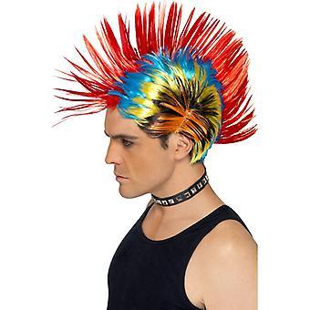 Ροκουάης πανκ περούκα πολύχρωμο 80s Οδός πανκ Iro