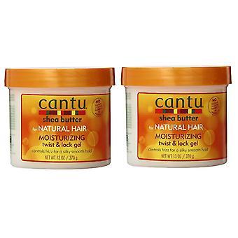 Cantu Natural Hair Twist And Lock Gel 13oz Jar (2 Pack)