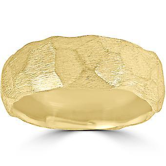 مصمم 14 ك الذهب الأصفر مطروقة خاتم الكتلة