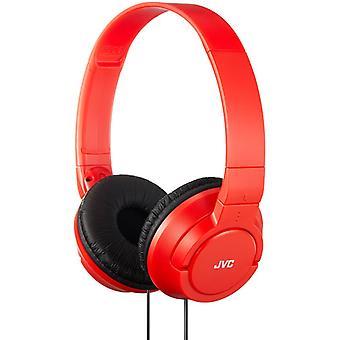 JVC Powerful Bass On-Ear Headphones - Red (Model No. HAS180RN)