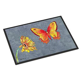 Gerber Daisy and Buttefly Indoor or Outdoor Mat 18x27 Doormat
