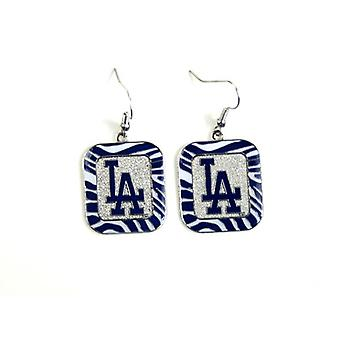 Los Angeles Dodgers MLB Zebra Style boucle d'oreille