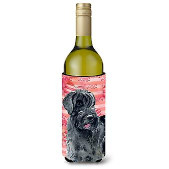 Giant Schnauzer Love Wine Bottle Beverge Insulator Hugger
