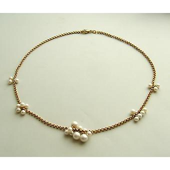 Collana perla in oro giallo