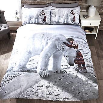 Barnas/unger Anoushka jul Design enkelt dynetrekk sengetøy sett