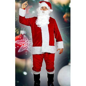 Costumi uomo Santa costume deluxe profondo rosso