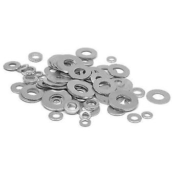 M4 - M14 Round Washer Metal Screw Zinc Plated Steel Gasket Ultra-Thin