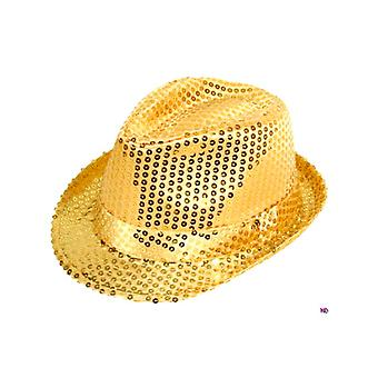 Sequin Gangster Hat - Gold