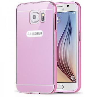 Pezzi di alluminio paraurti 2 con copertina rosa per Samsung Galaxy S6 G920 G920F