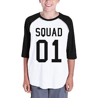 Squad01 lapset Baseball paita graafinen perheen Raglan-paita tyttöjä