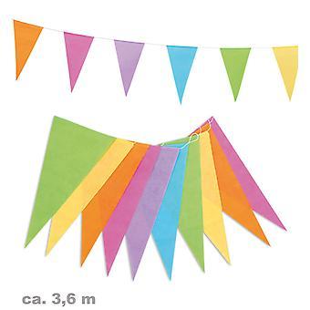 Garland 3, 6m kolorowe chorągiewki party urodziny