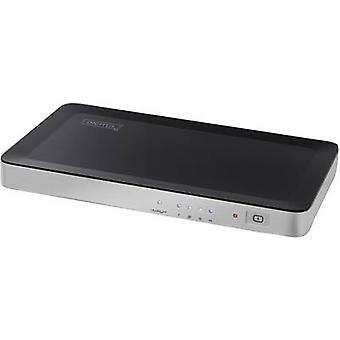 Digitus DS-42300 4 porty HDMI splitter tryb odtwarzania 3D 1920 x 1080 p Czarny, srebrny