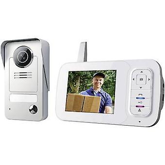 Smartwares VD38W wideo domofon drzwi Radio kompletny zestaw wolnostojący szary, srebrny