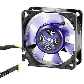 Wentylator NoiseBlocker BlackSilent XR1 PC czarny, niebieski (przezroczysty) (W x H x D) 60 x 60 x 25 mm