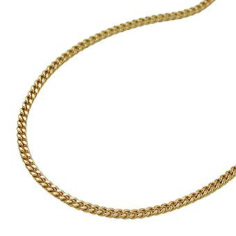 Gold chain necklace chain gold curb chain diamond 50 cm long 9 KT GOLD
