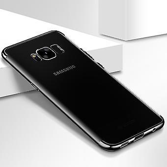 Handy Hülle Schutz Case für Samsung Galaxy J3 2017 Durchsichtig Transparent Schwarz