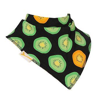 Schwarzen & grüne Kiwi Frucht Bandana Lätzchen