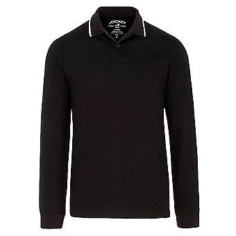 Jockey Langarm Polo Shirt - Schwarz