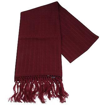 Knightsbridge Neckwear вязаный шерстяной шарф - бордовый
