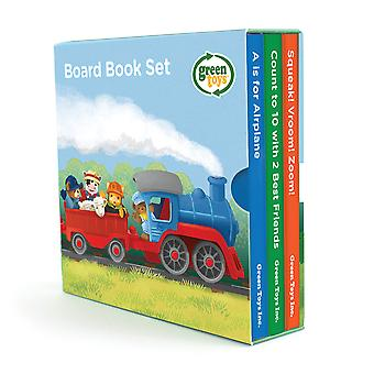 Green Toys Educational Board Book 3 Pack (Counting, Sounds, ABC's) Learn, Read