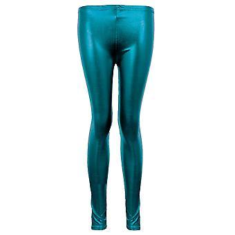 Disco Pants Ladies métallique brillant Wet Look PVC femmes Jambières de danse sexy