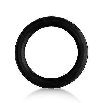 Rubber Ring Black Silicone, Fake Cheater Ear Plug, Earring, Body Jewellery