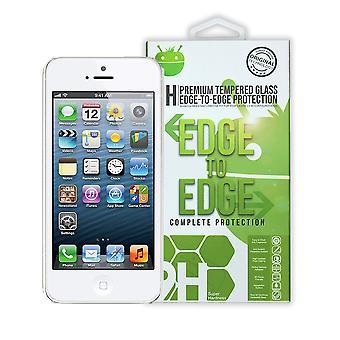 Hvit Premium herdet Glass For iPhone 5 / 5C/5S/SE