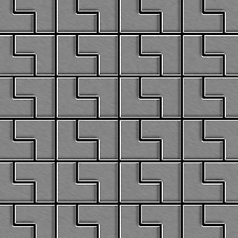 Mosaico metallo solido Acciaio inossidabile ALLOY Kink-S-S-MM