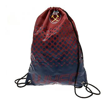 West Ham United FC Fade Design Drawstring Gym Bag
