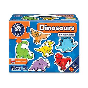 Sad zabawki dinozaurów 2 kawałek zagadki