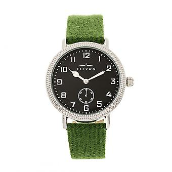 Elevon Northrop Wool-Overlaid Leather-Band Watch - Green/Black