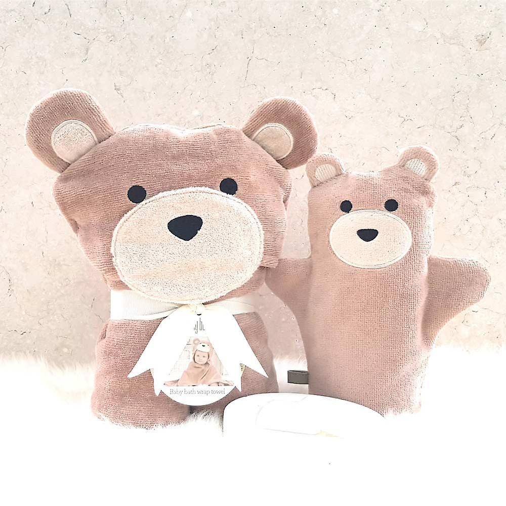 Toffee Teddy baby towel gift set