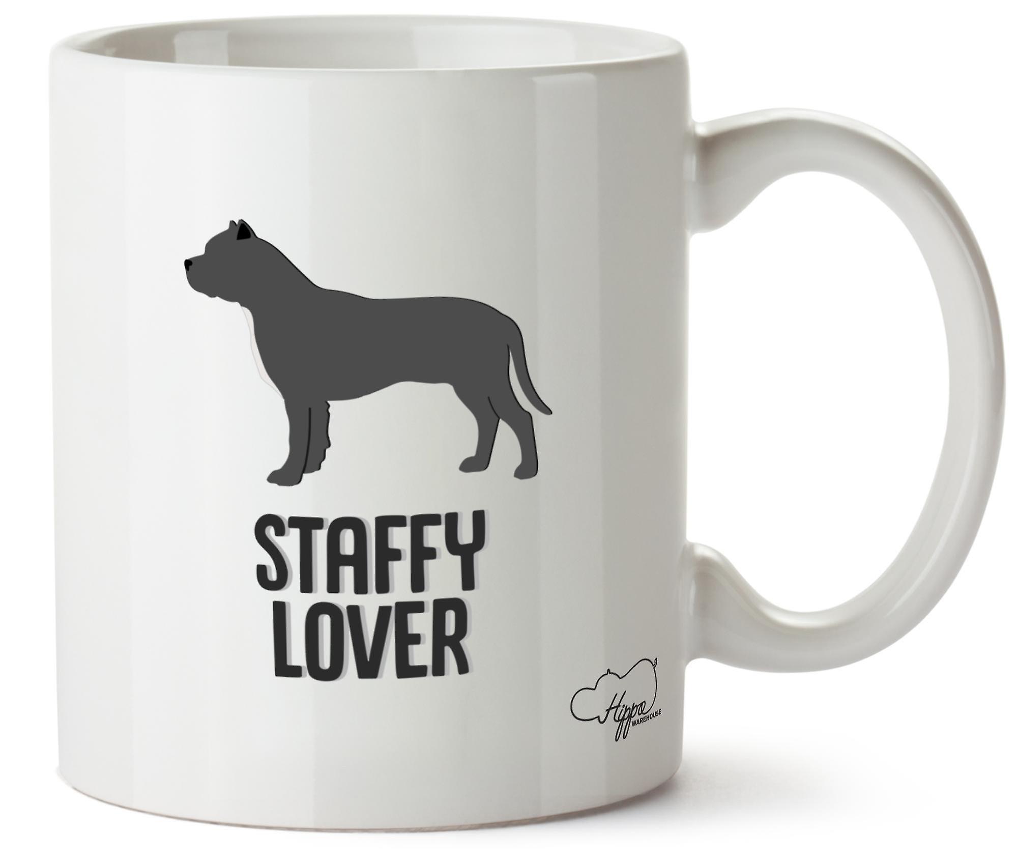 Hippowarehouse Staffy любовник собаки печатных Кубка керамическая кружка 10oz