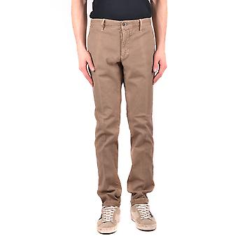 Incotex Ezbc093034 Men's Brown Cotton Pants
