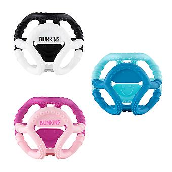 Bumkins Silicone Sensory Teether Ball  Baby Teether  Infant Teether  Flexible  Soft  Textured  Bacteria Resistant