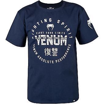 Venum Kids Signature Short Sleeve T-Shirt - Navy Blue