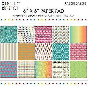 Simply Creative 6x6 Inch Paper Pad Razzle Dazzle