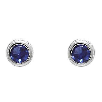 Ah! Jewellery Round Sapphire Crystals From Swarovski Studs